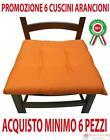 Ordine min.6 pz cuscini cuscino arancione imbottito per sedia poltrona