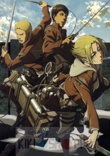 Poster A3 Shingeki No Kyojin Annie Bertolt Reiner Attack Titan Manga Anime 01