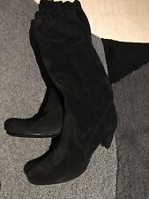 Igi & Co Black Suede Women's Pull-up Boots UK Size 5, EU Size 38