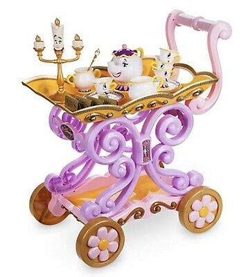Disney Mrs Potts Belle's Cart Play Tea Set Trolley Talking Lumiere Light Up
