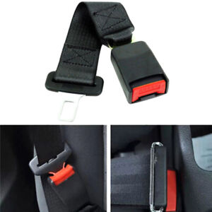 Universal Car Auto Seat Seatbelt Safety Belt Extender Extension Buckle Black C
