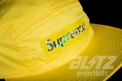 Supreme Holographic Camp Cap Yellow Ss19 2019 Hat Black