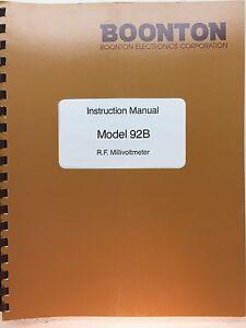 boonton 92b rf millivoltmeter instruction manual 01 83 ebay rh ebay com