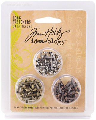 Tim Holtz Idea-ology Long Fasteners Embellishments New