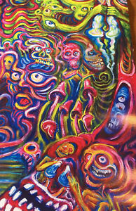 Framed print psychedelic lsd acid trip hallucinations colourful picture art ebay - Trippy acid pics ...