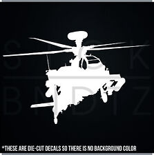 APACHE HELICOPTER ARMY USA USMC DECAL STICKER MACBOOK CAR WINDOW MOTORCYCLE