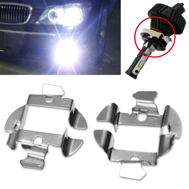 2X HID H7 LED Bulbs Base Retainer Holder Adapter Xenon for Car