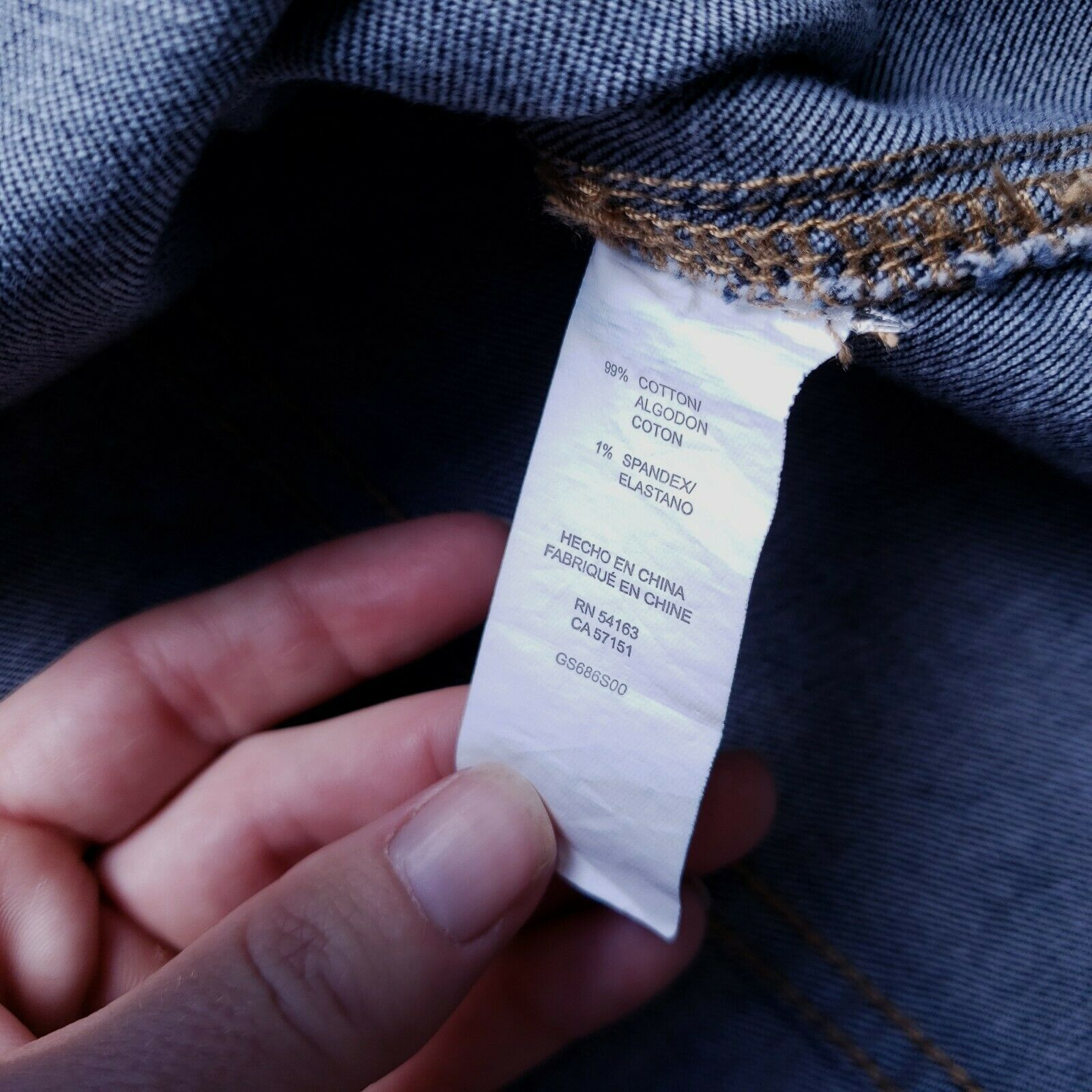 Bass Womens Blue Denim Skirt Size 10 Button Front… - image 3