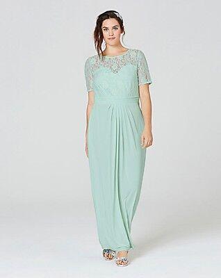 Ity Lace Bodice Evening/cocktail Maxi Dress Uk Size 16 (ref Box 112) Elegante Nello Stile
