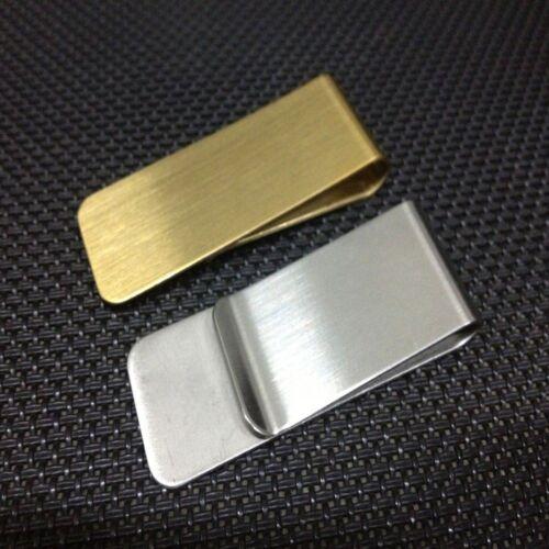 Metal Clip Slim Pocket Banknote Holder Cash Clamp Men Purse Wallet Money Clip