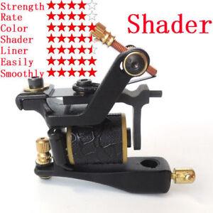 Superior Single Coils 14 Wrap Tattoo Machine Gun Carbon Steel Shader ...