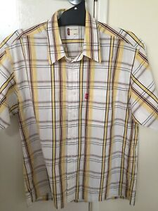 Levi-039-s-Short-Sleeve-Button-Up-Checked-Shirt-Size-XL-Extra-Large-Strauss-Genuine