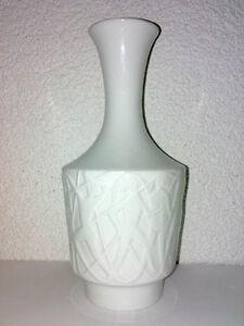 Vase-OP-ART-Edelstein-Porzellan-Relief-Akt-Einhorn-60s-70s-Mid-Century-H-24-cm