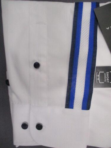 bandes sur les manches fcjsec 67 Eterna Slim Fit Chemise 8585 00 f083 stretch blanc