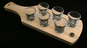 Leo Zodiac Set of 6 Shot Glasses with Wooden Paddle Tray Holder 0M9NlIvb-09103831-139902632