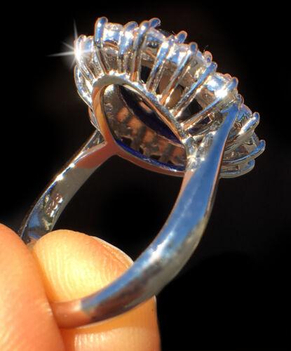 8 ct Sapphire Ring Swiss corindon avec superbe zircone cubique MOISSANITE Simulateur Taille 7