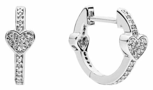 Pandora Alluring Hearts Hoop Women's Earrings - Sterling Sil