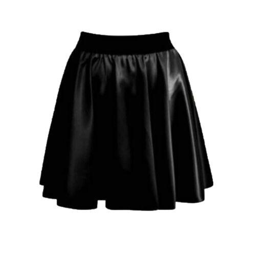 New Women/'s ladies Tartan Printed Pleated Flared Belted Mini Skater Skirt 8-16