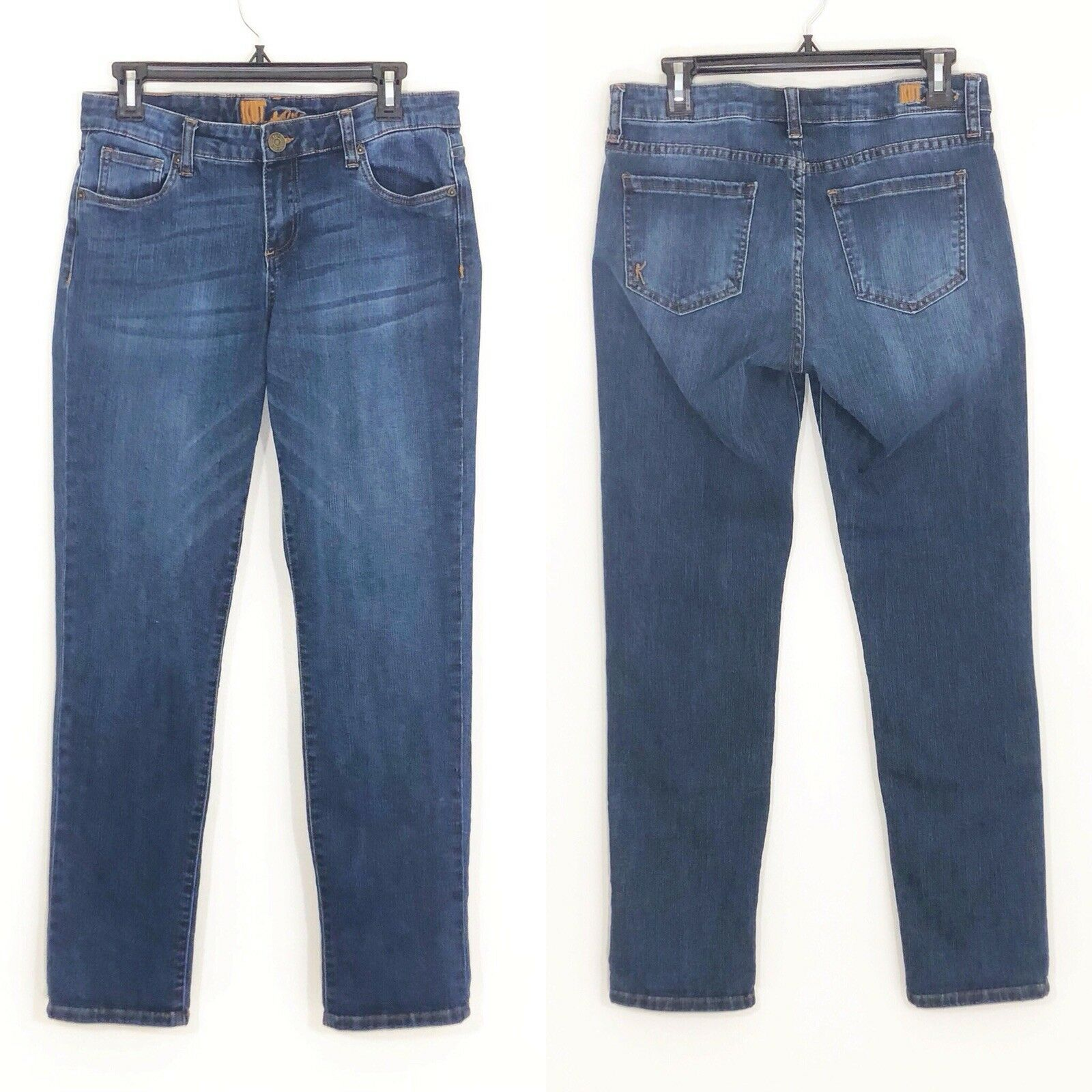 Kut from the Kloth Mid-rise bluee Straight Jeans 8