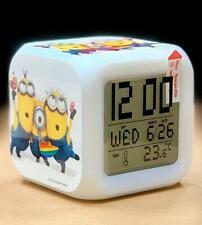 Minions 7 Color Changing LED Digital Alarm Clocks For Kids /& Christmas Gift
