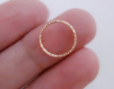 Yellow gold filled Nose ring,Earrings,Lobe ring Sterling silver Rose gold filled Nostril ring