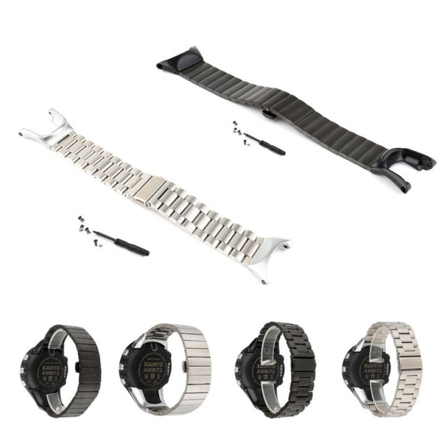 Stainless Steel Watch Band Strap Replacement for Suunto Ambit2 3 2S 2R 3S 3R