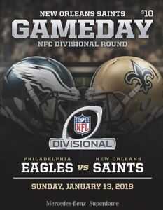 newest 23544 d28bf Details about 2019 Playoff New Orleans SAINTS v Philadelphia Eagles GAMEDAY  PROGRAM Mint