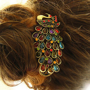 1pcs-Girls-Women-Vintage-Crystal-Rhinestone-Peacock-Hair-Barrette-Clip-Hairpin