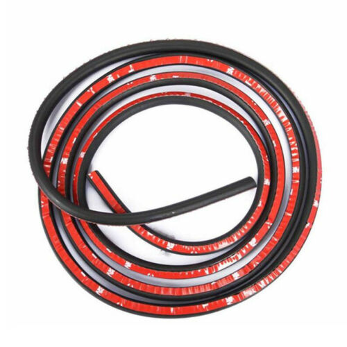 D-shape 3ft Adhesive Rubber Seal Sound Insulation Car Door Sealing Weather Strip