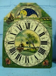 DUTCH-CLOCK-SMALL-FRIESIAN-TAIL-OR-SCHIPPERTJE-HANDPAINTED-REPLACEMENT-DIAL-1