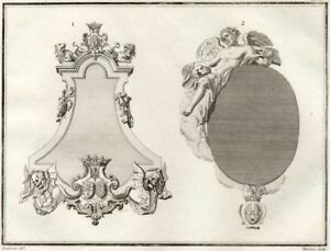 Monuments-of-Louis-Chauvelin-Jerome-Lepeltier-Millin-Engraving-Original-18th