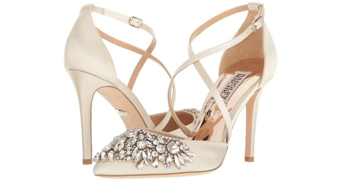 Badgley Mischka Harlene shoes Ivory UK Size  6.5