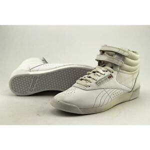 3eee53841cc170 Reebok Freestyle Hi Women US 6.5 White SNEAKERS Blemish 14249 for ...