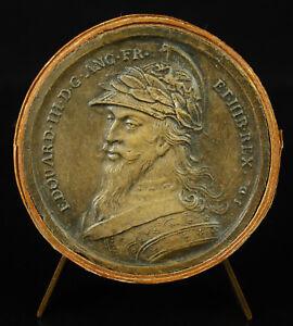 Sportif Médaille Edouard Iii Roi D'angleterre D'ap Jean Dassier Xviiie England Medal