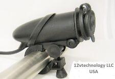 Fits Harley Handlebar 12 V Motorcycle Lighter Socket Power Outlet Plug Mount