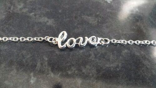 Compre 2 lleve 1 Gratis palabra amor Tobillera de plata y oro ** ** Vendedor de Reino Unido
