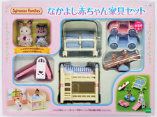 JP Sylvanian Families Calico Critters SE-190 Baby Funiture Set with 2 Baby Dolls