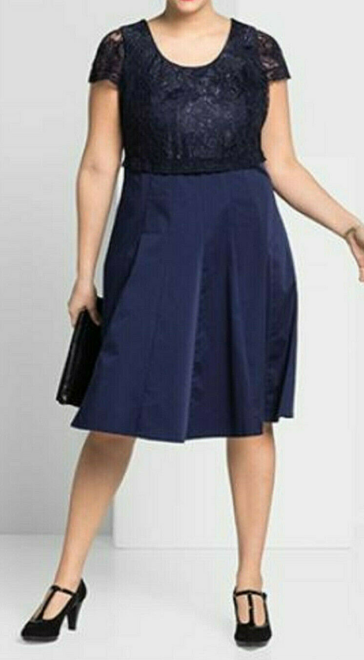 Kleid mit spitze 46