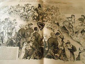 1878 Pèle Mèle De Dessins Pendant L'exposition Vue Secondes Loges Et Orchestre Le Plus Grand Confort