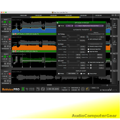 Synchro Arts Revoice pro 4.2 (Neueste) Pitch Time Korrektur Audio Software Neu