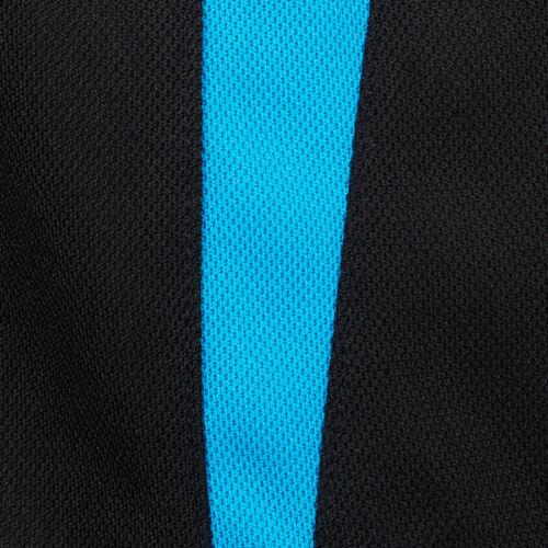 Podium Teamwear Kids Contrast Bell Panel Sports Polo Urban Fit UPF Proctection