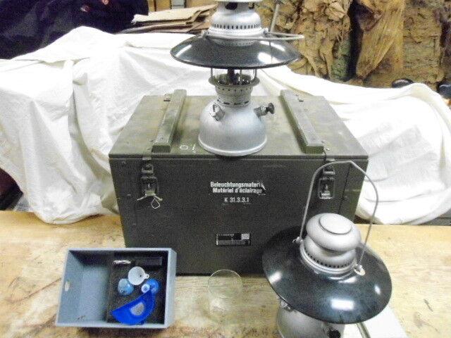 Swiss Army Petromax Genoil Lantern Set