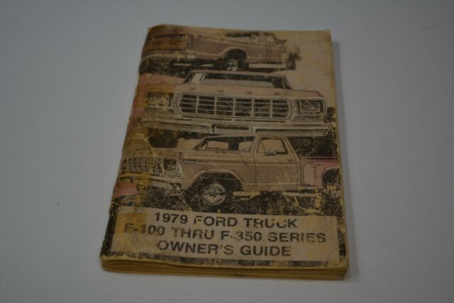 1979 Ford F100 F150 F250 F350 Owners Guide For Sale Online Ebay