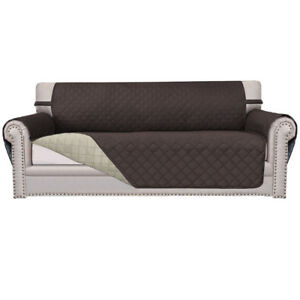 Sofa Cover Reversible Furniture Protector Slipcover Water Resistant