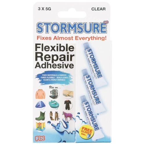 STORMSURE Reparaturkleber 3x5g für Textilien Kleidung Zelte Wasserdicht