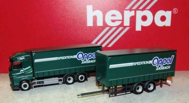 Herpa 307376 Mercedes-Benz Actros Streamspace 2.5 Gardinenplanen-Hängerzug 1:87