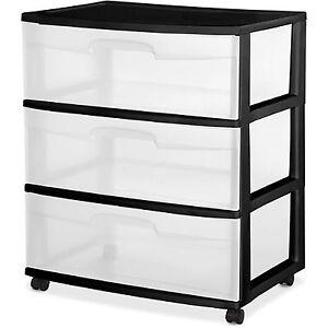 3-DRAWER-Plastic-Storage-Home-Cabinet-Organizer-Wide-ROLLING-CART