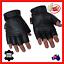 Fingerless-Leather-Motorcycle-Motorbike-Gloves-Gym-Sport-Cycling-Biker-Cruiser thumbnail 1