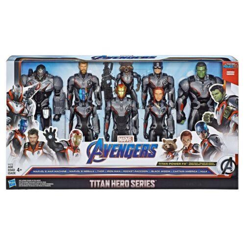 "2019 Marvel Avengers Issue Titan Hero Series 12/"" action figures Team Pack de 8"