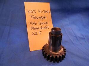 Triumph-41-3061-4th-Gear-Mainshaft-NOS-NP1315